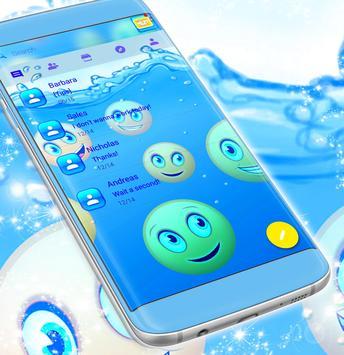 Emoji 2017 Waterfall SMS Theme screenshot 2