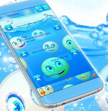 Emoji 2017 Waterfall SMS Theme screenshot 3