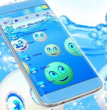 Water Emoji SMS Theme screenshot 4