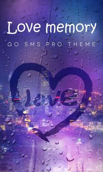 (FREE) GO SMS LOVE MEMORY THEME poster