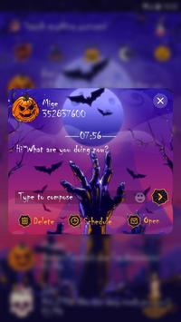 (FREE) GO SMS MYSTERIOUS HALLOWEEN THEME screenshot 3