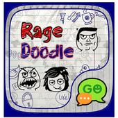 (FREE) GO SMS RAGE DOODLE THEME icon