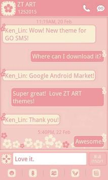 FlowerLove Theme GO SMS poster