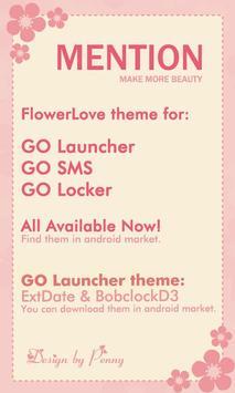 FlowerLove Theme GO SMS apk screenshot