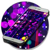 Free 2017 Neon SMS Theme icon