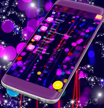 Pink Neon Lights SMS poster