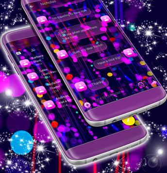 Free 2017 Neon SMS Theme screenshot 1