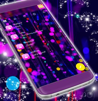 Free 2017 Neon SMS Theme screenshot 2