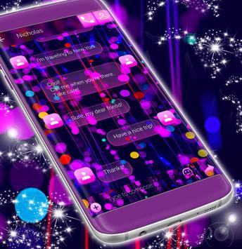 Free 2017 Neon SMS Theme screenshot 3