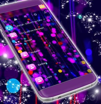Free 2017 Neon SMS Theme screenshot 4