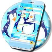 Freezing Penguins SMS Theme icon