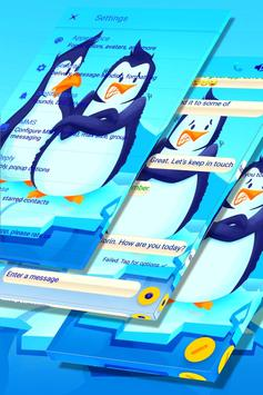 Freezing Penguins SMS Theme screenshot 4