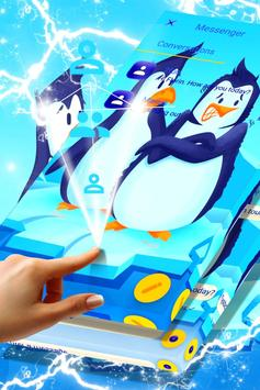 Freezing Penguins SMS Theme poster