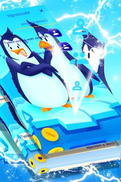 Freezing Penguins SMS Theme screenshot 1