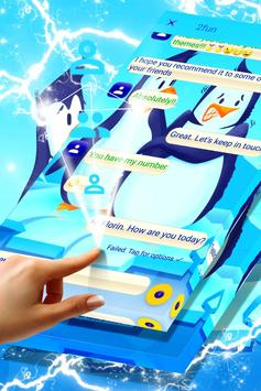 Freezing Penguins SMS Theme screenshot 3