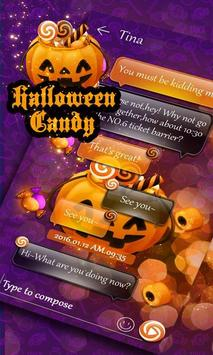 (FREE) GO SMS HALLOWEEN CANDY THEME poster