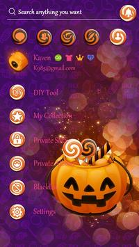 (FREE) GO SMS HALLOWEEN CANDY THEME screenshot 1