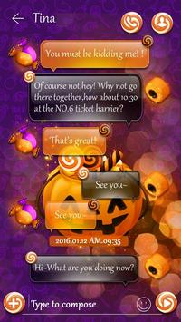(FREE) GO SMS HALLOWEEN CANDY THEME screenshot 2
