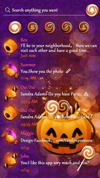 (FREE) GO SMS HALLOWEEN CANDY THEME screenshot 3