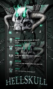 (FREE) GO SMS HELL SKULL THEME poster