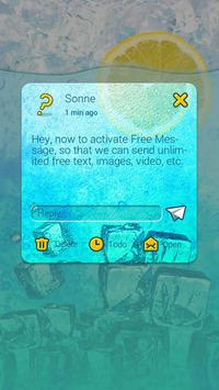 (FREE) GO SMS ICED TEA THEME apk screenshot