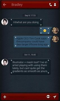 FREE - GO SMS LEATHER THEME apk screenshot