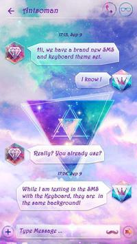 (FREE) GO SMS MILKY WAY THEME apk screenshot