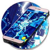 Neon Blue SMS Theme icon