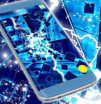 Neon Blue SMS Theme screenshot 2