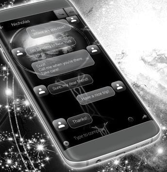 Sms Messages Black apk screenshot