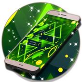 Neon Green SMS Theme icon