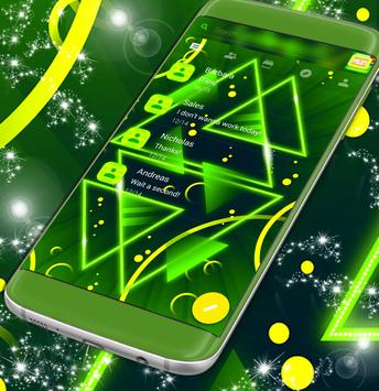 Neon Green SMS Theme poster