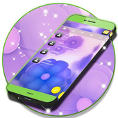 SMS Purple Flowers icon