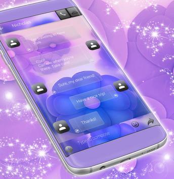 SMS Purple Flowers screenshot 3