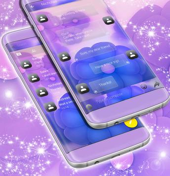 SMS Purple Flowers screenshot 1