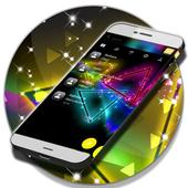 Colored Neon SMS Theme icon