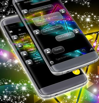 Colored Neon SMS Theme screenshot 1