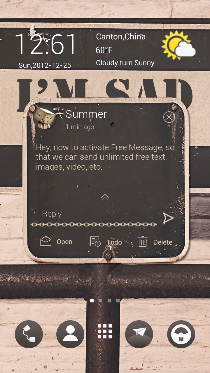 FREE - GO SMS SAD THEME for Android - APK Download