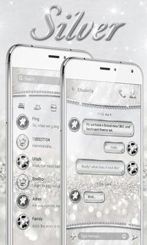 (FREE) GO SMS SLIVER THEME poster