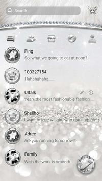 (FREE) GO SMS SLIVER THEME screenshot 1