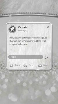 (FREE) GO SMS SLIVER THEME screenshot 3