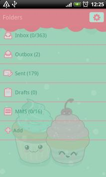 GO SMS Pro Sweet Cupcake Theme apk screenshot