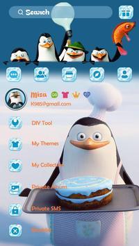(FREE) GO SMS PENGUINS THEME apk screenshot