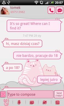 GO SMS Pro Pink Kitty Theme poster