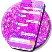 Pink Chunky Glitter SMS icon