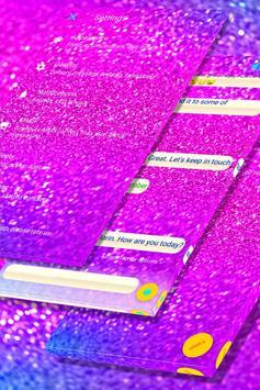 Pink Chunky Glitter SMS screenshot 4