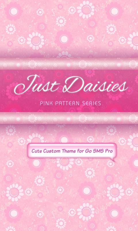 Pretty Pink Flower Sms Theme For Android Apk Download