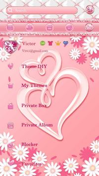 (FREE) GO SMS PINK LOVE THEME screenshot 4