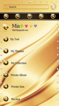 (FREE) GO SMS PURE GOLD THEME apk screenshot