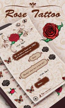 (FREE) GO SMS ROSE TATTOO THEME poster